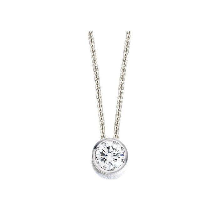 18ct white gold bezel set diamond slider pendant 041cts jewelry 18ct white gold bezel set diamond slider pendant 041cts aloadofball Choice Image