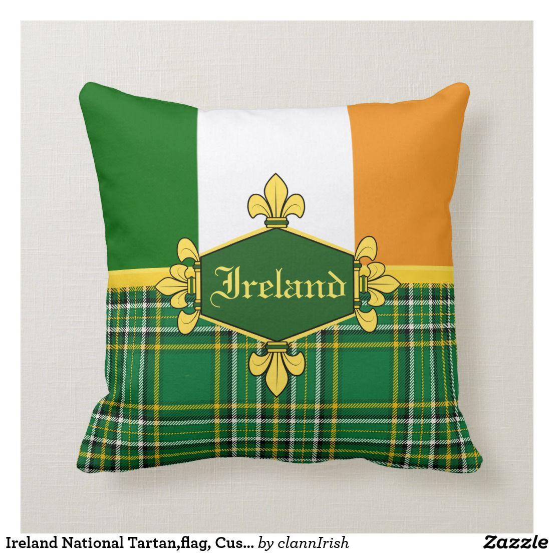 Ireland National Tartan,flag, Customize with name Throw