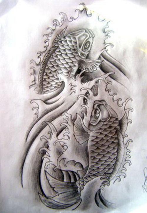 The koi tattoo monochrome koi fish tattoo designs for Koi fish pisces