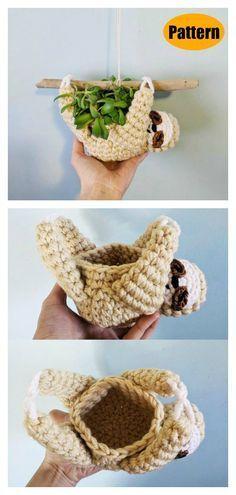 Photo of 6 Amigurumi Sloth Crochet Pattern Kostenlos und kostenpflichtig #crochetgifts Sloth Hanging Plan …
