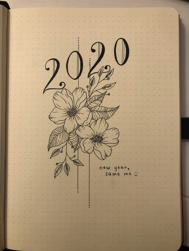 2020 Cover Page Bulletjournal Bullet Journal Cover Ideas Bullet Journal Books Bullet Journal Art