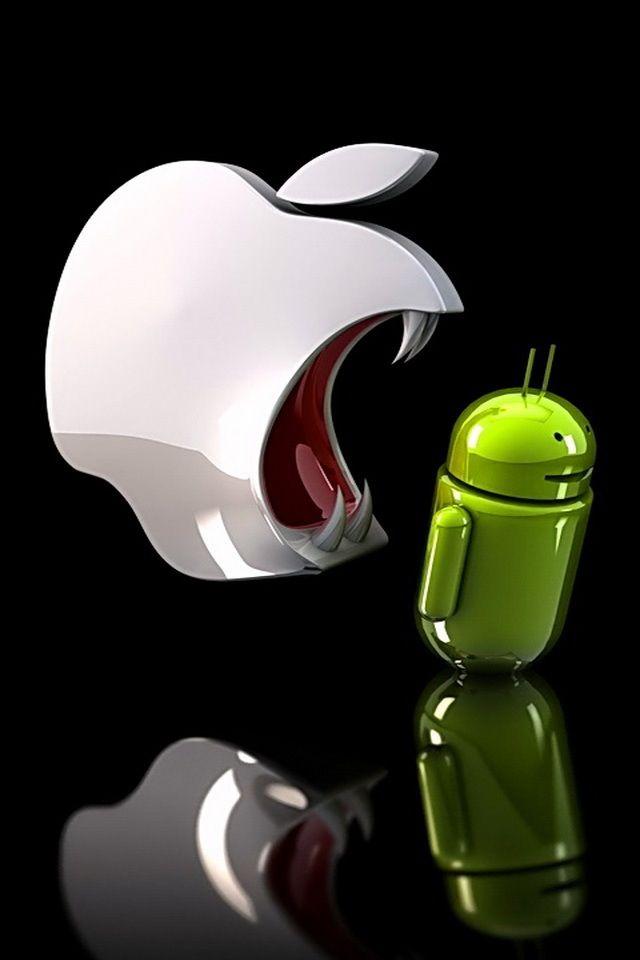 Techwars Apple Vs Android Smartphone Apple Android Logo Ipad Air Wallpaper Apple Wallpaper Iphone Apple Wallpaper