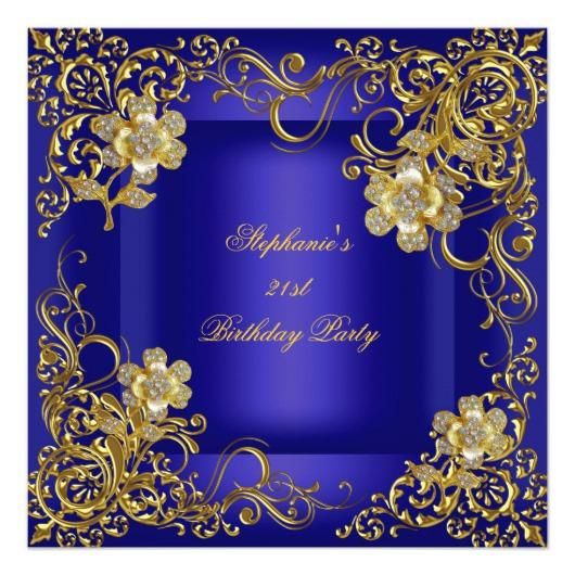 Royal Blue And Gold Birthday Decorations