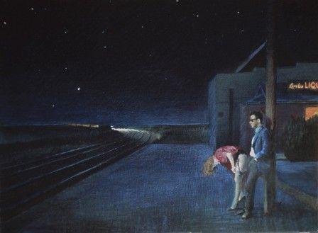 le dernier train (tableau : Nigel Van Wieck)