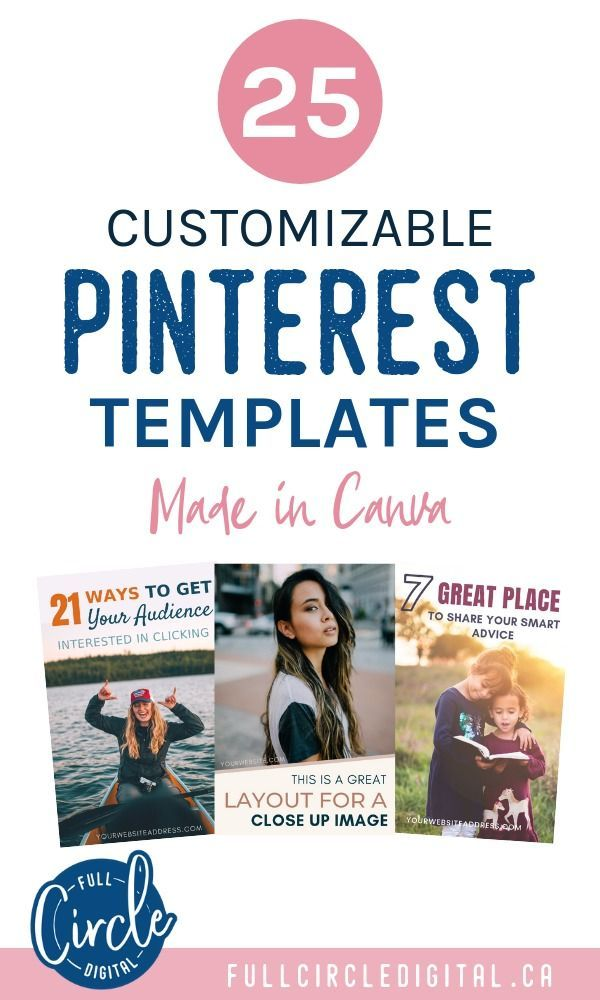 25 Pinterest Templates - Editable in Canva | Life coach ...