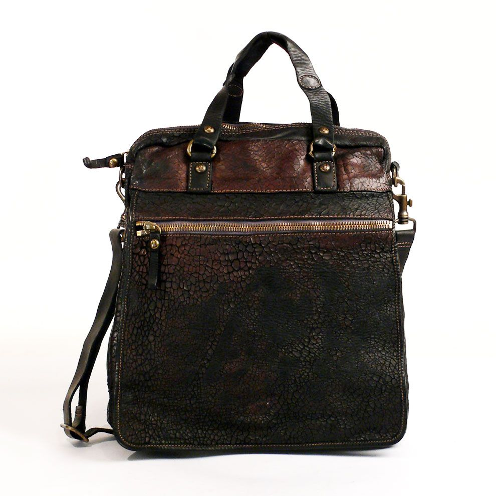 Tote Bag with external pockets and shoulder strap   Campomaggi and ... 09973e88e9