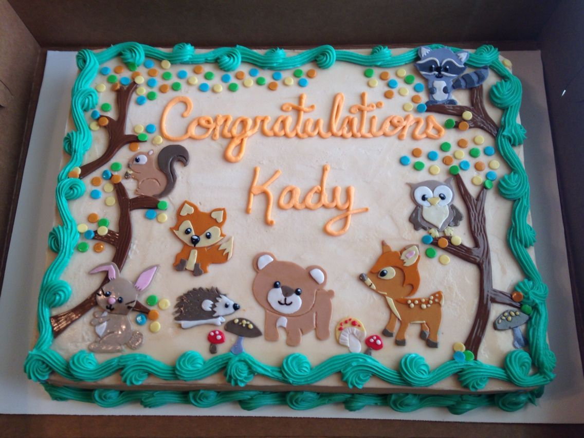 woodland animal baby shower cake cake pinterest animal baby