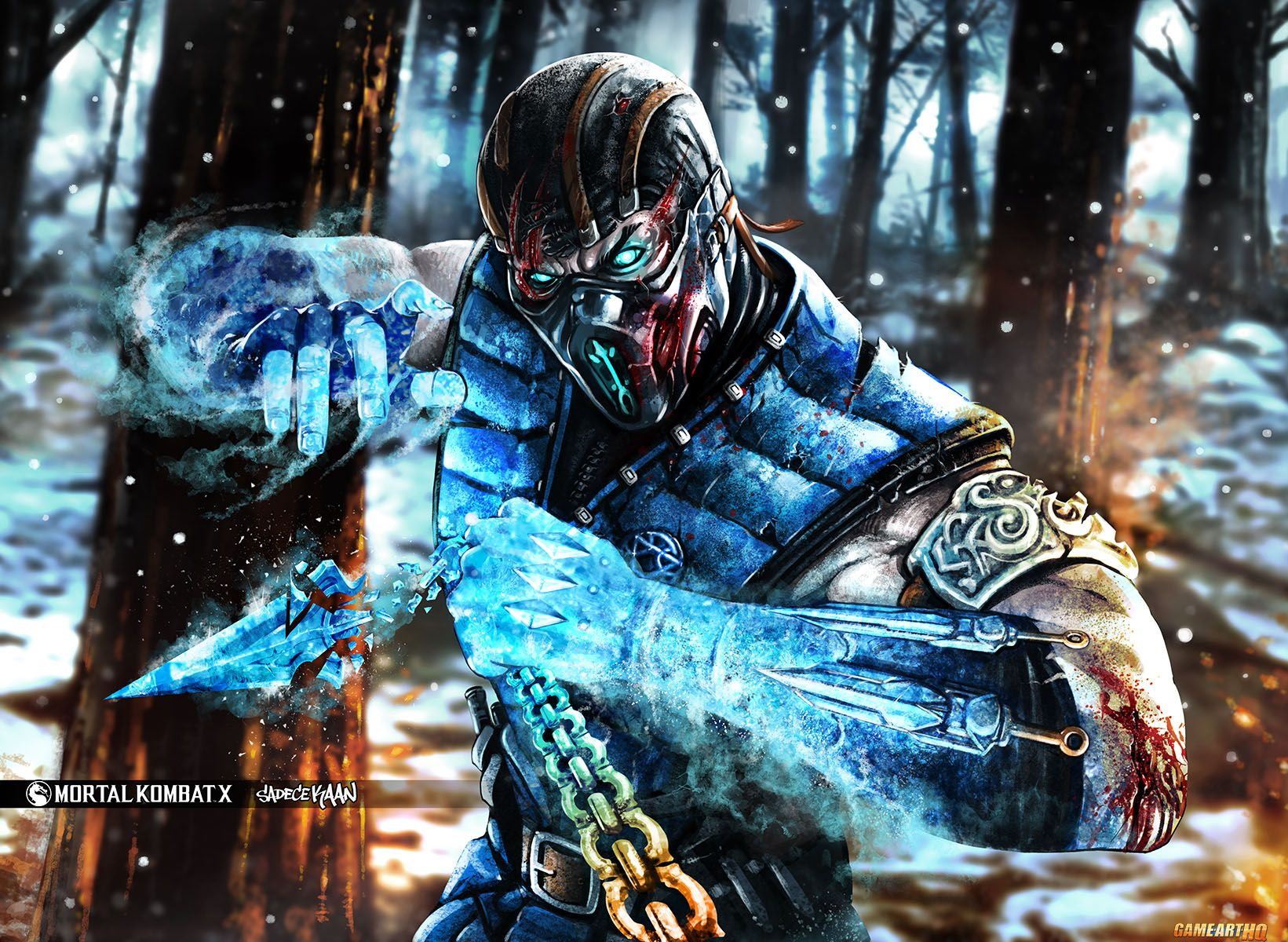 Mortal Kombat X Wallpaper Subzero Fanart Sadecekaan From Turkey