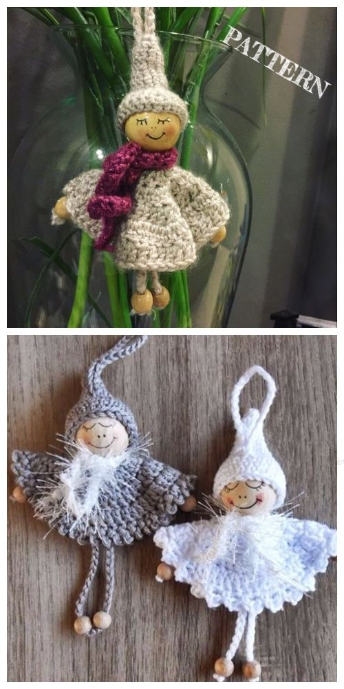 Crochet Bead Angel Ornament Free Crochet Pattern