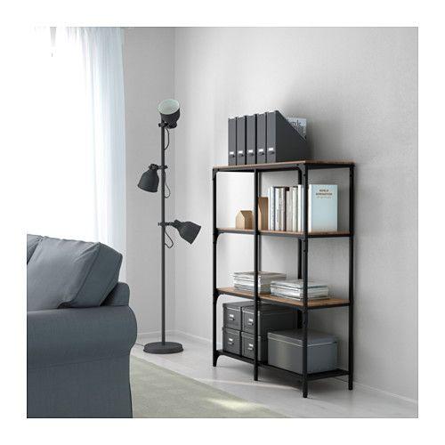 ikea fjallbo black shelf unit rustikale regale regal metall schwarz und regal schwarz