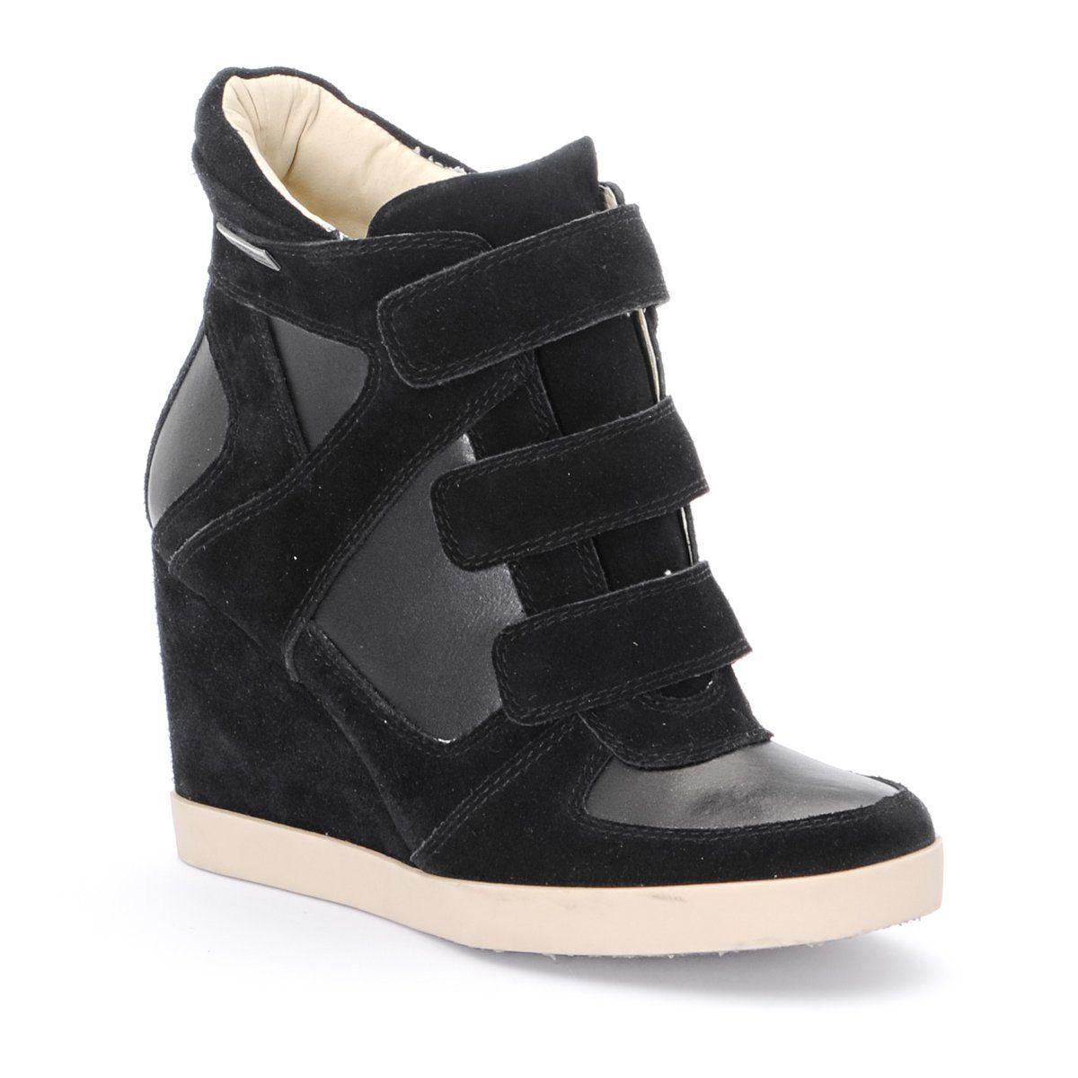 bonne vente de chaussures disponible large éventail Baskets croûte de cuir à talon compensé, Golf, Les ...