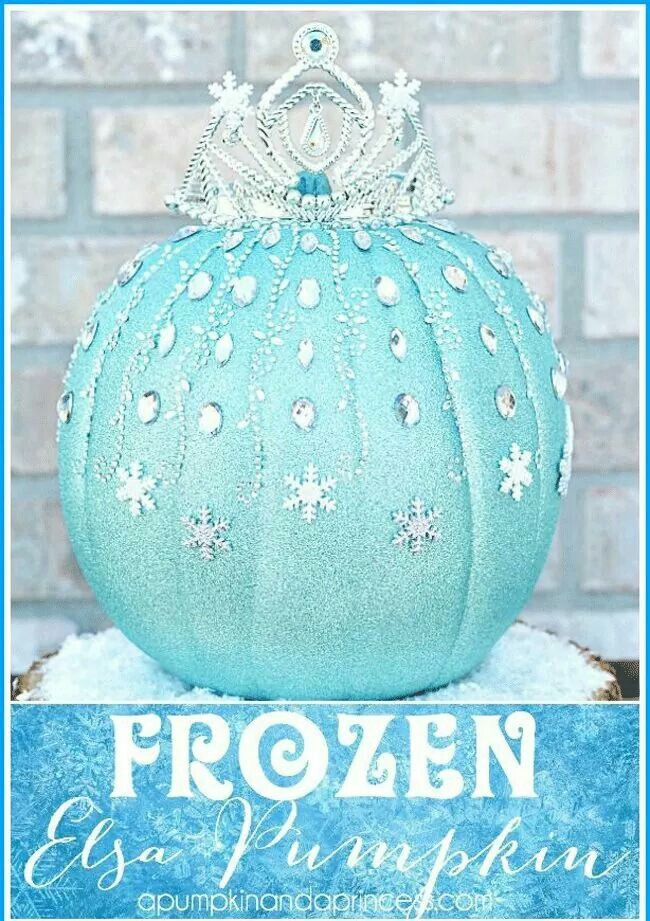 Going to do this pumpkin with Nel and Scarlett Frozen Pinterest - frozen halloween decorations