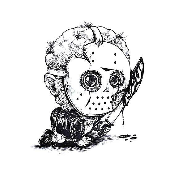 Baby Jason Tattoo Design   Horror movie characters, Horror ...