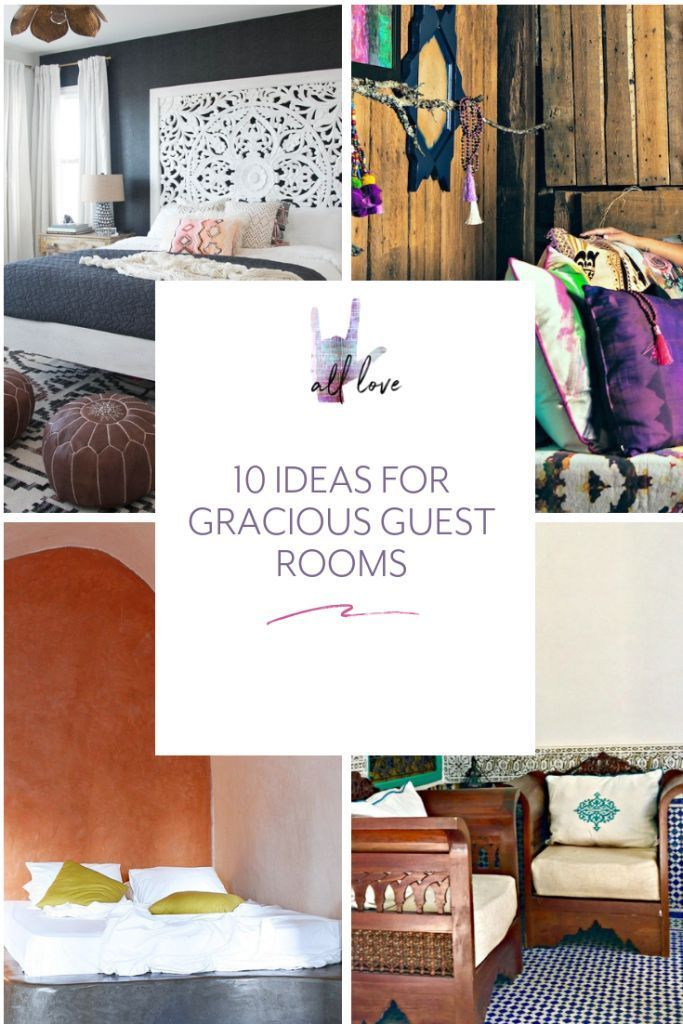Gracious Guest Bedroom Decorating Ideas: Modern Bedroom Decor, Bohemian Decor, Guest Room