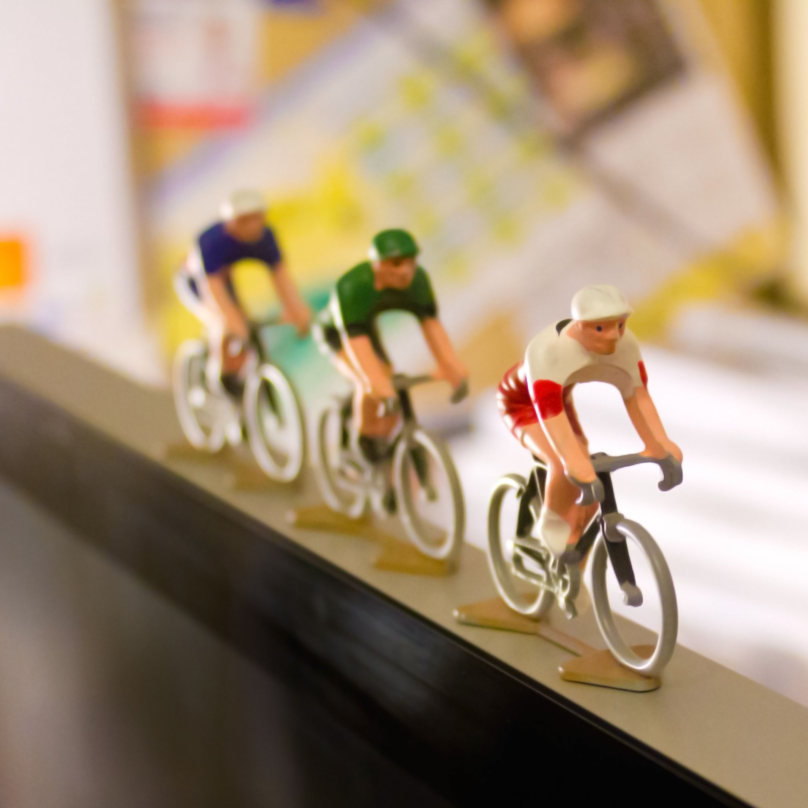 Germany Cycling Figurine Hand painted in France