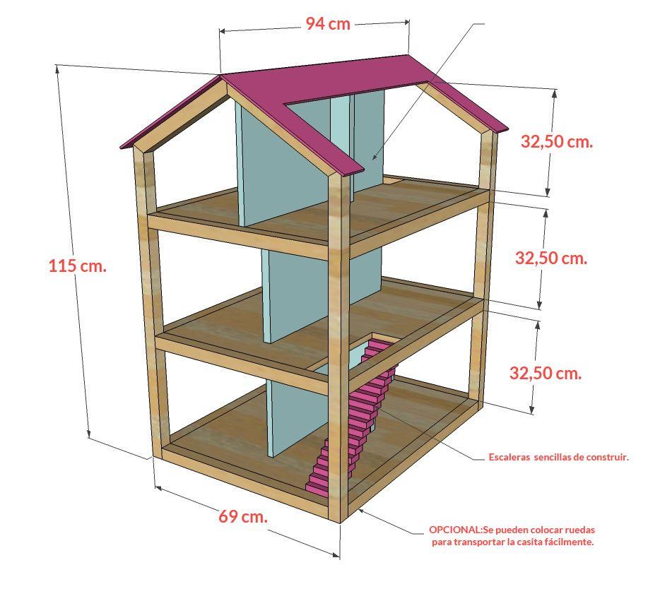 Casita De Muñecas Diy Planes De Casa De Muñecas Casa De Muñecas Ideas De Casa De Muñecas