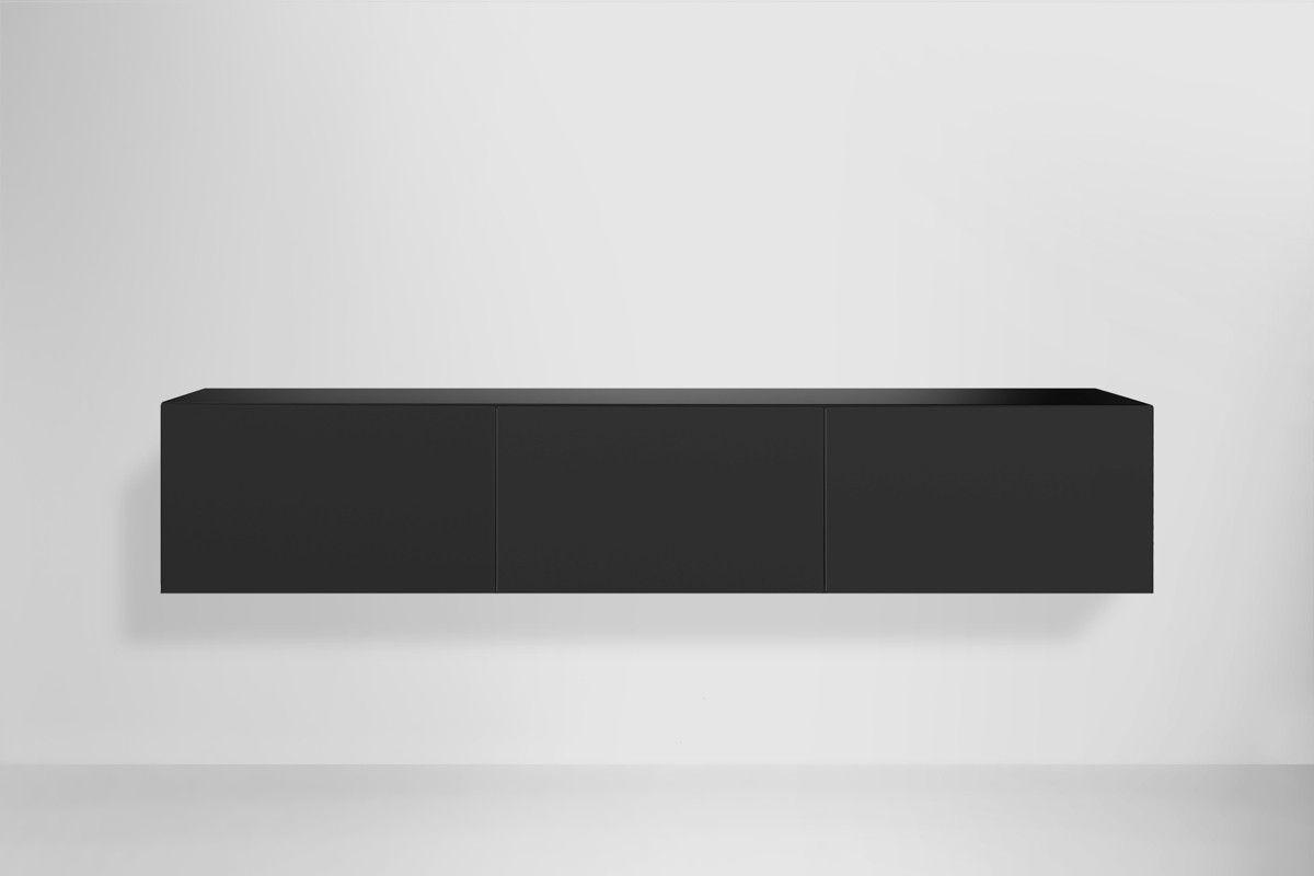 Modern Tv Meubel Zwart.Edge 180 Zwevend Design Tv Meubel Zwart Meubels Tv Meubels