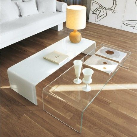 Table Basse Moderne Rectangulaire En Verre Bridge Sovet Salontafel Interieur Dozen