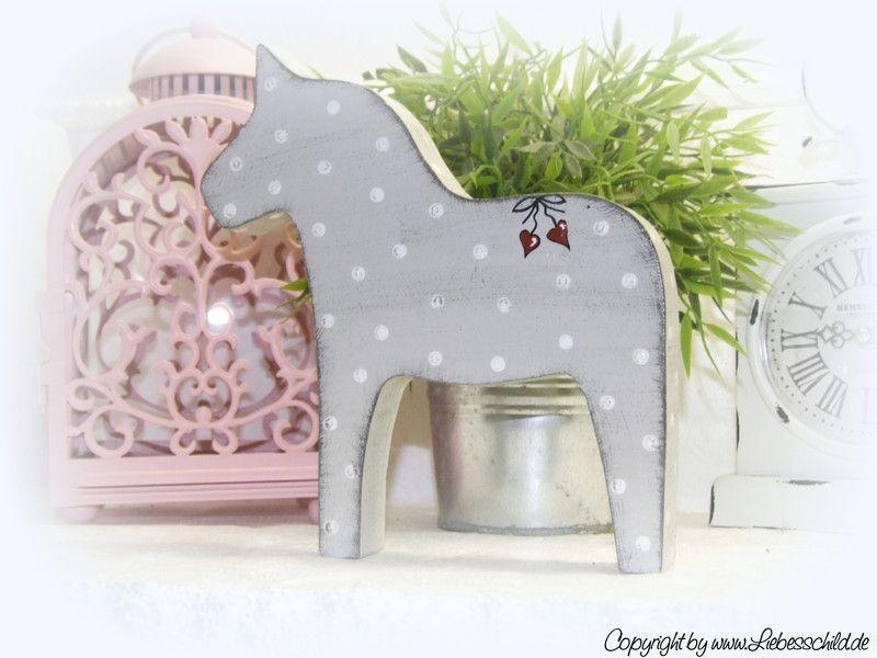 Deko-Objekte - Dalapferd, Dala Pferd, Schwedenpferd, Pferd, Holz - ein Designerstück von Alexandra-Sangs bei DaWanda