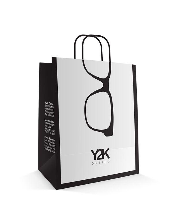 Y2K Optics Paper Bag Design on Behance | Paper bag | Pinterest ...