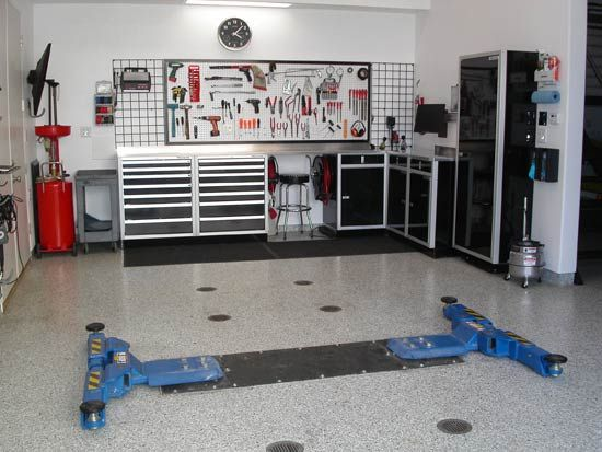 Modern garage interior design ideas garage interior modern garage and stor - Decoration garage automobile ...
