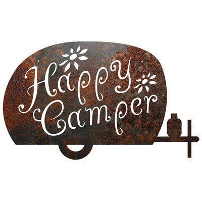 """Recherche Metal Camping """"Happy Camper"""" Sign Wall Décor"""
