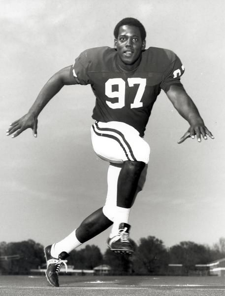 In this undated photo provided by the University of Alabama, former Alabama football player John Mitchell poses for a photo in Tuscaloosa, A...