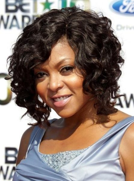 Taraji P Henson Curly Bob Hairstyle 100 Real Human Hair About 12 Inches Lace