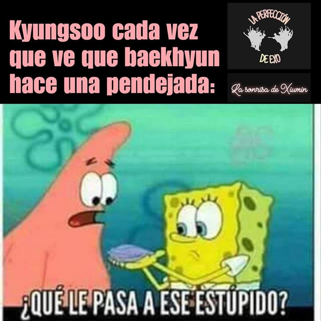 Pin De Park Jonyun En Memes Kpop Memes Kyungsoo Baekhyun