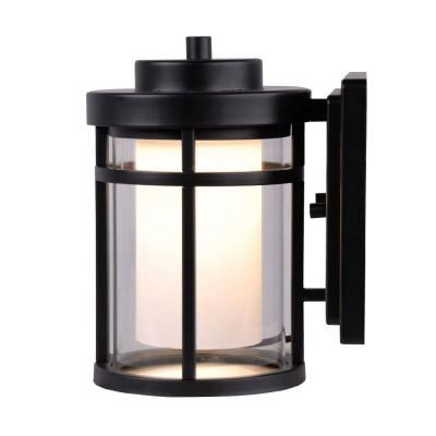 Home Decorators Collection Black Outdoor Led Small Wall