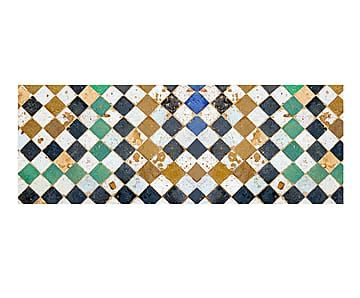 Alfombra Vin Lica Square Tiles Pasillera Mosaicos Y
