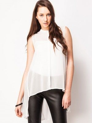 3df715671 KOOVS Sheer Blouse With Pleated Back from koovs in india | fashion ...