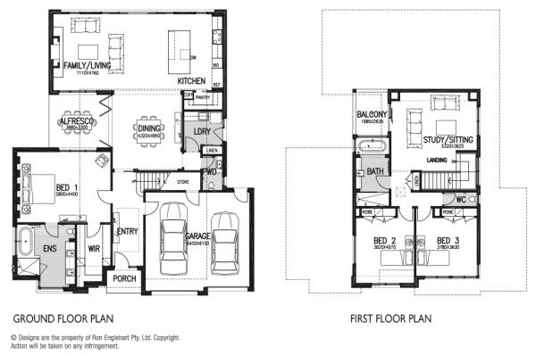 Melbourne Australia Floor Plans City House by Englehart Homes ...