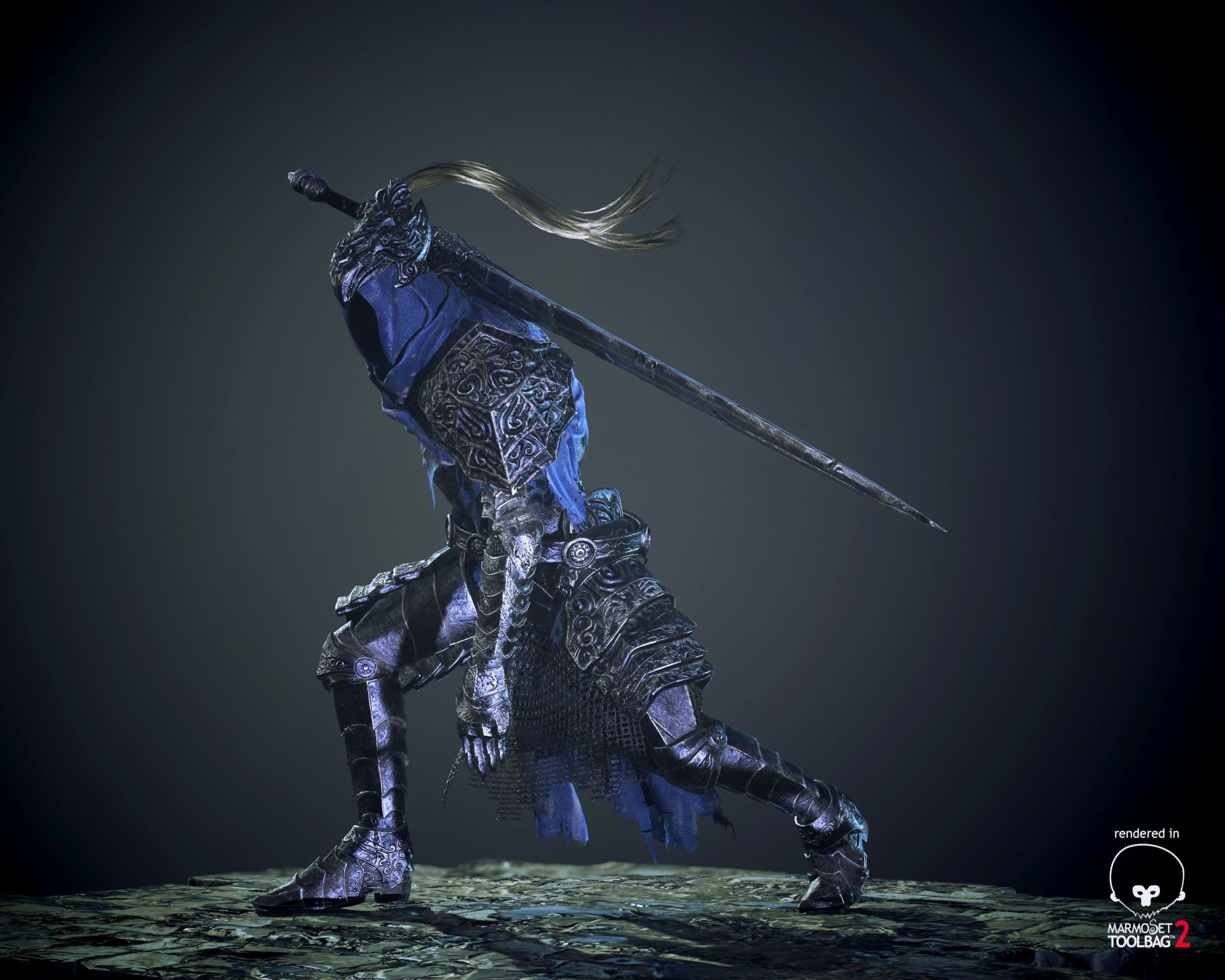 Artstation artorias the abyss walker dark souls raul