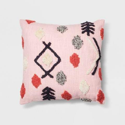 Pink Tufted Throw Pillow Opalhouse Products Pink Throw