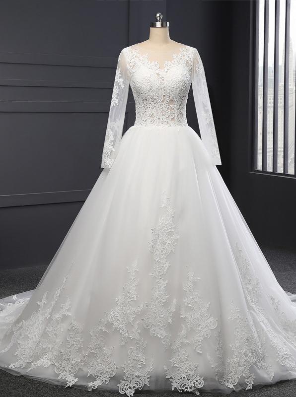 Formal Wedding Dresseswedding Dress With Sleevesclassic Bridal