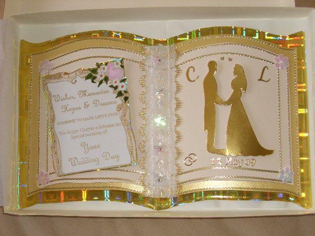 Wedding Congratulations Card using 'Keepsake' Bookatrix Embossing Board
