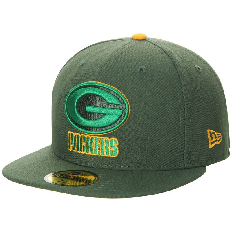Green bay packers new era pop flip 59fifty fitted hat