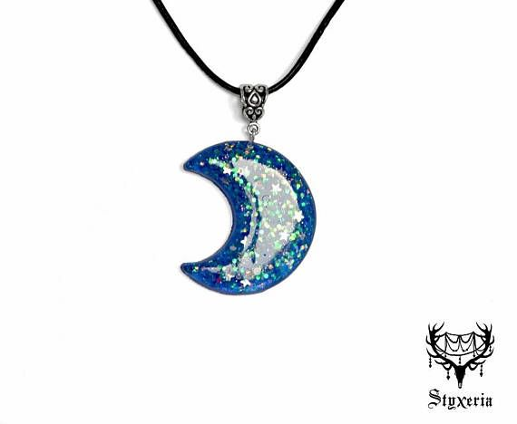 Starry witchy moon resin glitter ribbon pendant for sale on etsy starry witchy moon resin glitter ribbon pendant for sale on etsy https aloadofball Images