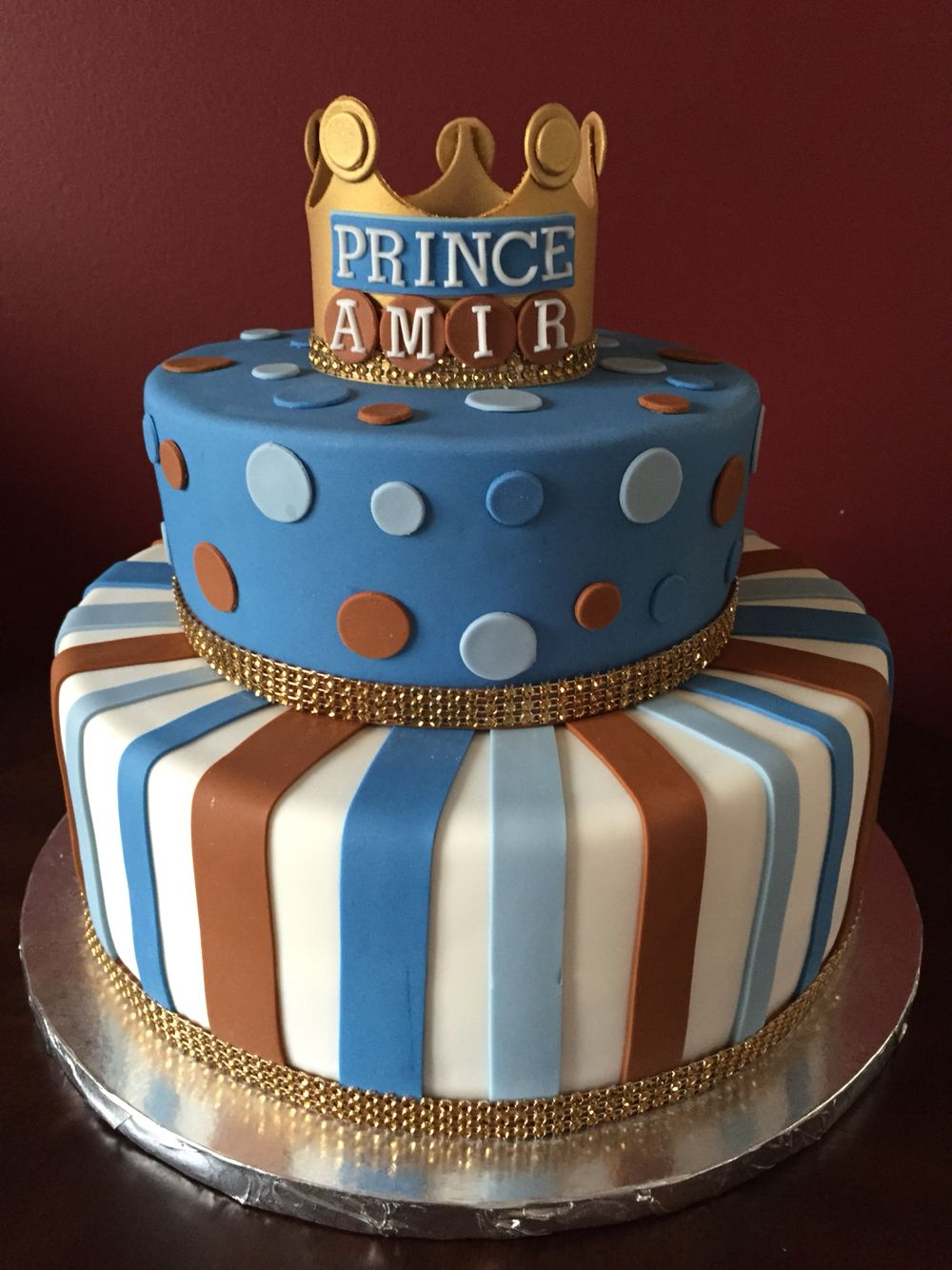 Prince Crown Birthday Cake Birthday Cakes In 2019
