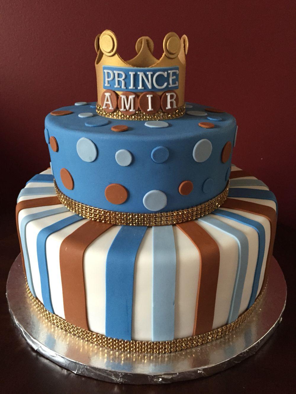 Prince Crown Birthday Cake Birthday Cakes Pinterest