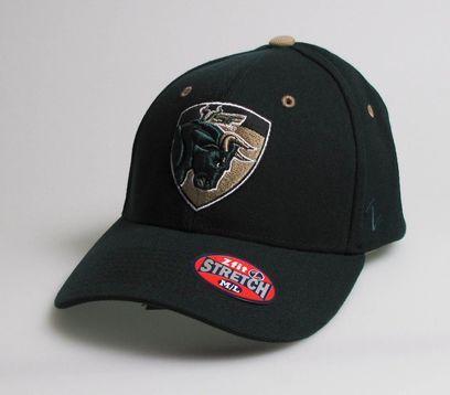 cc320fb373ec40 NCAA South Florida Bulls ZHS Stretch Fit Hat - Bull in Shield  (Medium/Large) [ML]