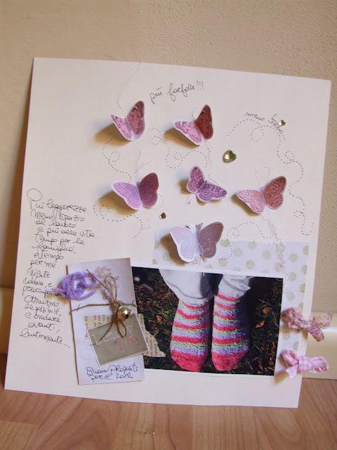 """""""Meno stress e più farfalle"""". Amo questa frase, amo le farfalle, e trovo che questo LO sia delicato e bellissimo!"""