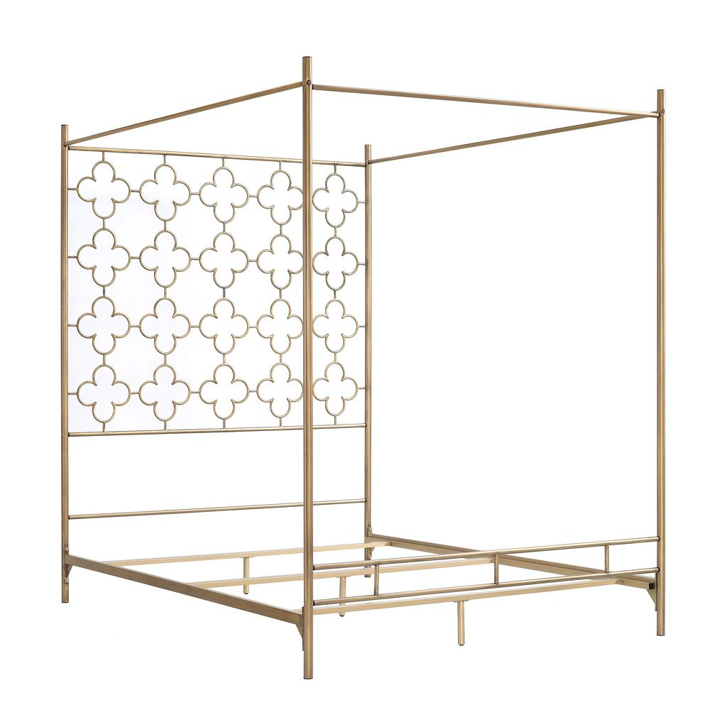 Retro Glitz Quatrefoil Queen Canopy Bed - Overstock™ Shopping - Great Deals on Beds  sc 1 st  Pinterest & Retro Glitz Quatrefoil Queen Canopy Bed - Overstock™ Shopping ...