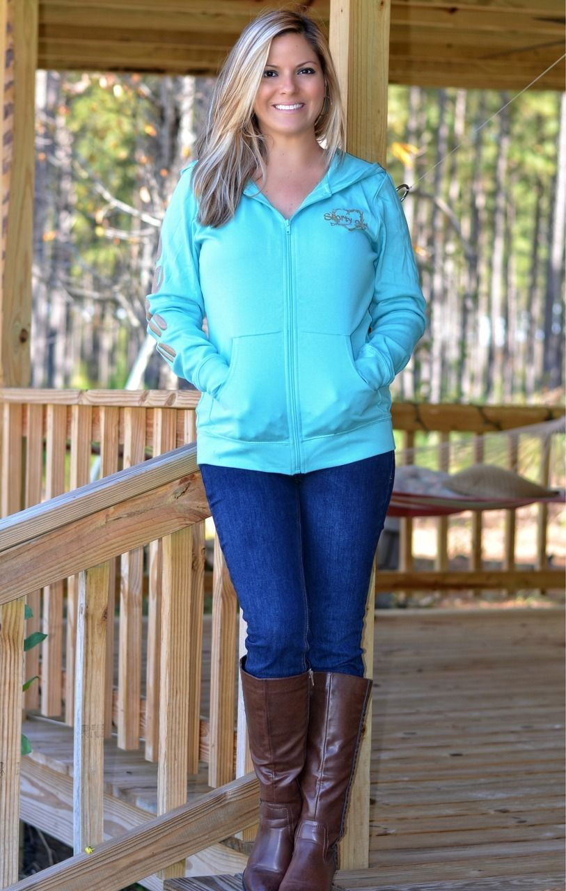 04192dbf177 Sporty Girl Apparel - Women's mint deer head long sleeve zip hoodie, $38.95  (http