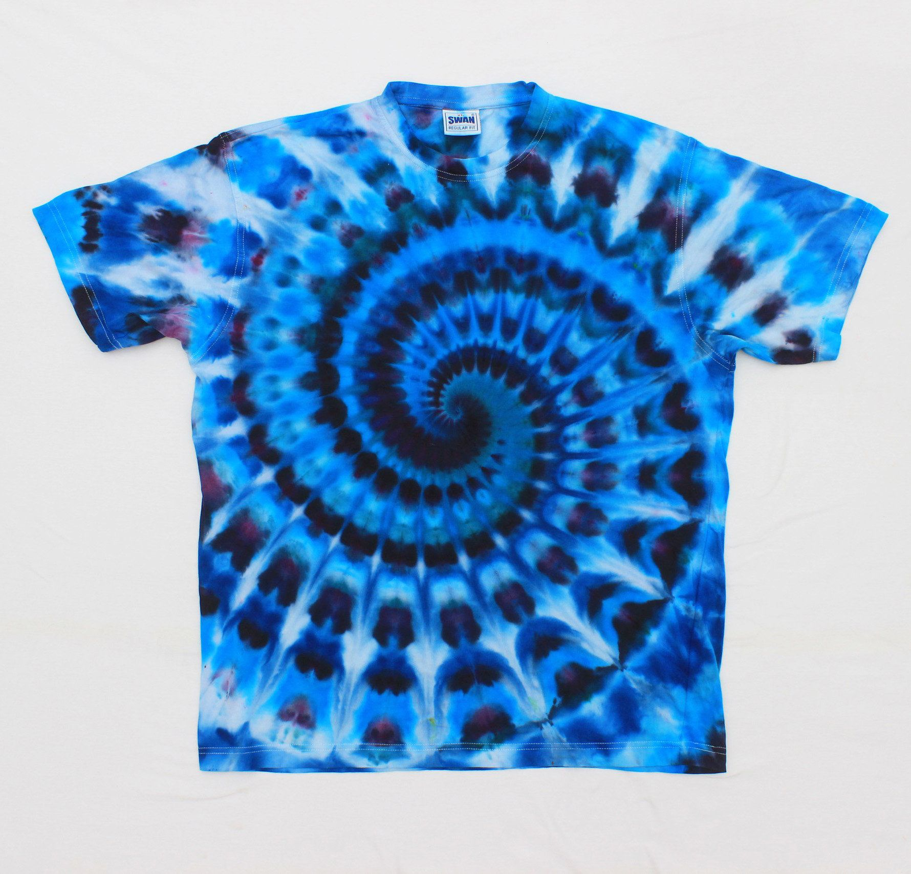Tie Dye Soft Pink Earthy Сolors Spiral Psychedelic Swirl T-shirt Size XL VPqlg0pS