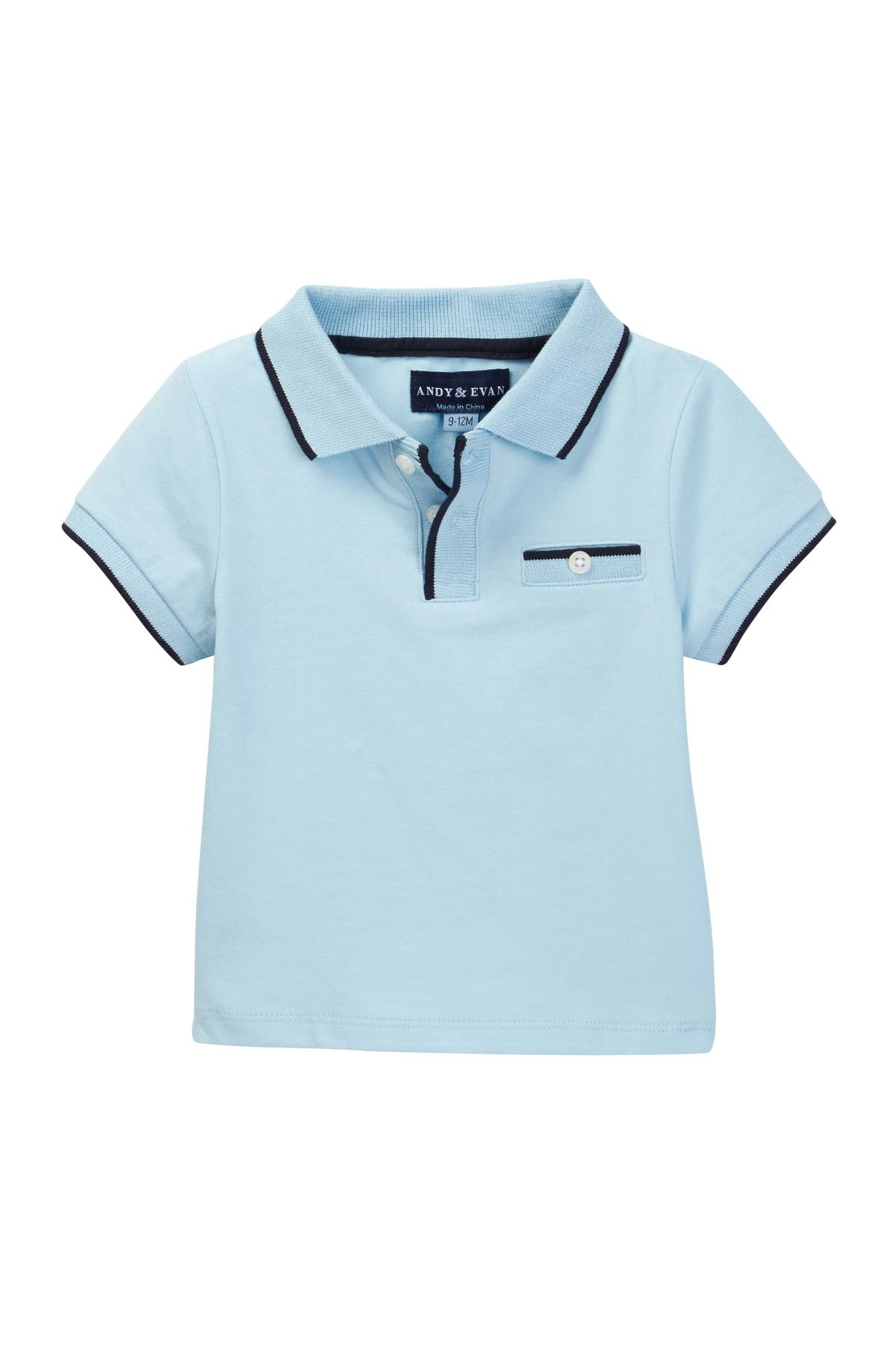 Stripe Trim Polo Shirt Baby Boys 9 24M