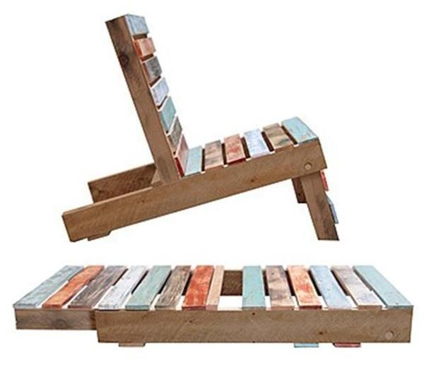 """diy handmade furniture and wood recycling ideas. ¤♡¤ I freaking LOVE this! And the other ideas on here! Like the pallet """"couch"""" with 2 separate cushions and the magazines underneath! And the other outside chair with the woman reading in it! And the hanging bench/bed! ♡♡♡ Good ideas!"""