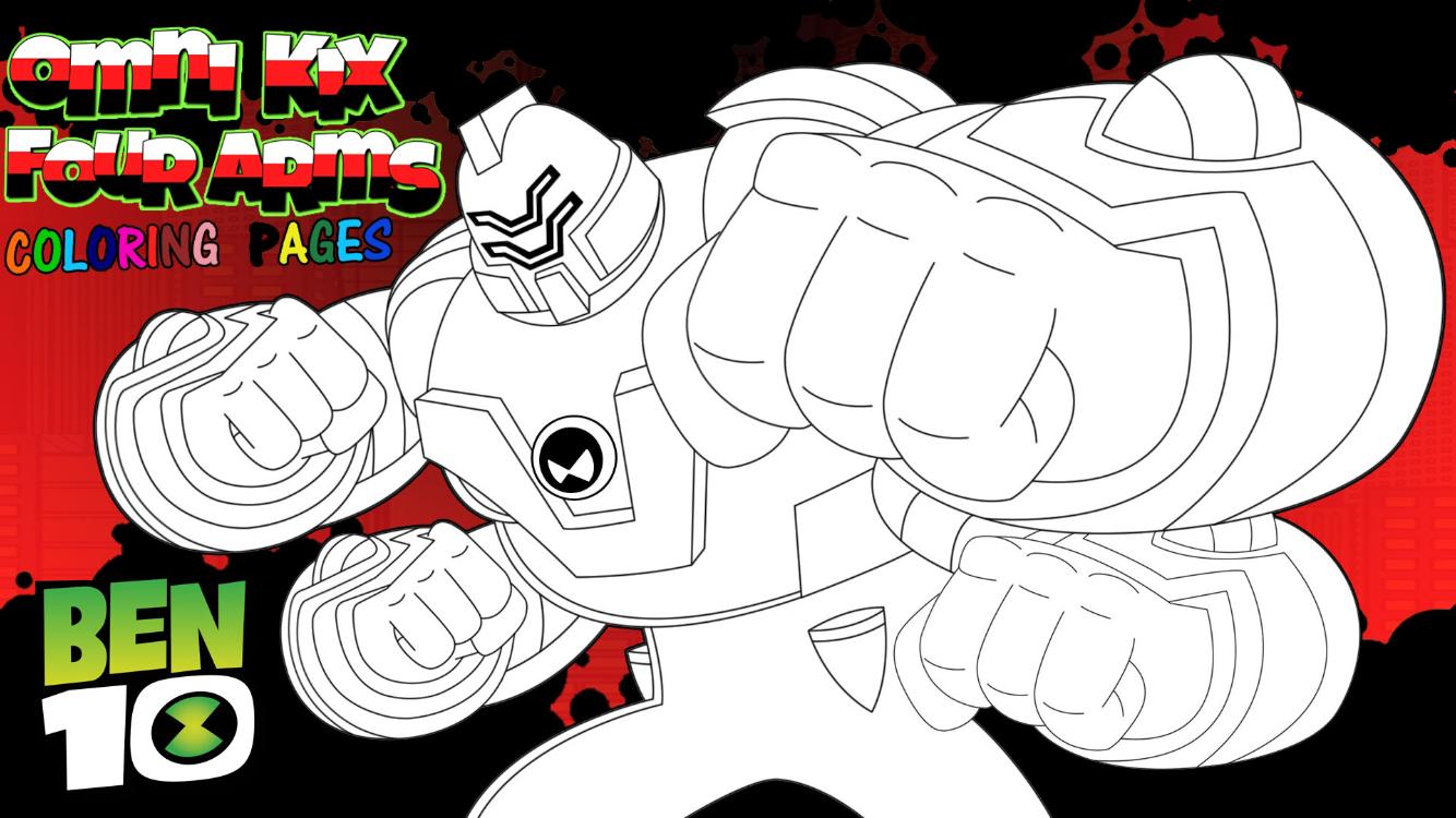 Ben 10 Reboot Omni Kix Fourarms Coloring Page