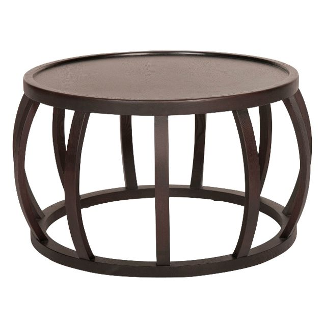 Ascot Round Glass Coffee Table: Ascot Round Slat Coffee Table